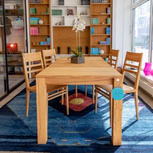Holzschmiede - Esstisch Lignum Art ausziehbar mit 6 Stühlen